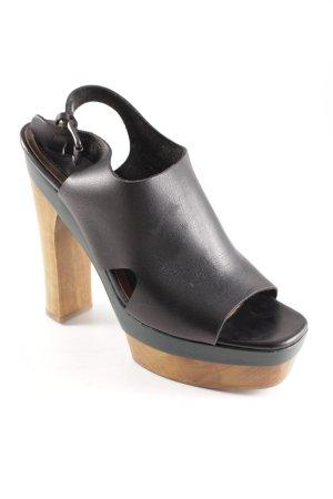 Marni at H&M Platform High-Heeled Sandal black-light brown casual look