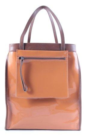 Marni at H&M Shopper dark orange-light brown leather-look