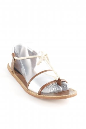 Marni at H&M Teenslippers zilver-bruin Boho uitstraling