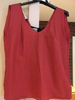 Marni Slip-over blouse donkerrood-zwart