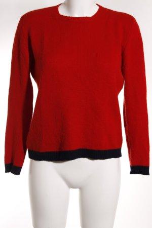 Marni Cashmerepullover rot-dunkelblau Casual-Look