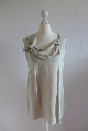 Marni Designer Oberteil Long Top Bluse grau hellgrau Gr. 38/40 neu