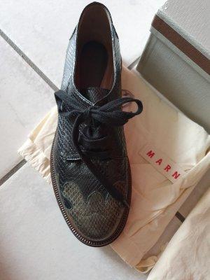 Marni Lace Shoes black-khaki