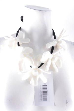 Marni Halskette weiß-schwarz extravaganter Stil
