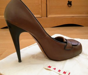 Marni Lace-up Pumps brown leather