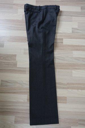 MARNI Hose, aus Wollstoff, elegant & klassisch, in dunkelgrau mit Fischgrätenmuster, ital. 46 oder EUR 42