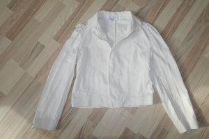MARNI Jacke, aus festem Baumwollstoff in weiß, an den Schutern gerüscht, ital. 46 oder EUR 42