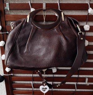 MARNI Leder Handtasche Reisetasche Handbag Henkeltasche braun
