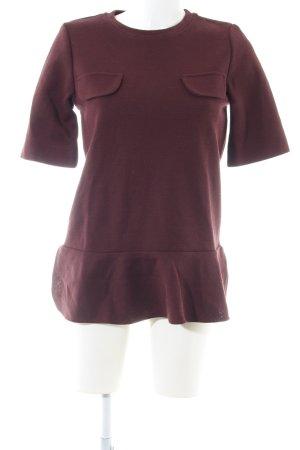 Marni Camisa larga burdeos estilo sencillo
