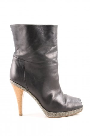 Marni Peep Toe Booties black-light grey casual look