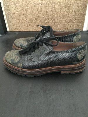 Marni Python Schuhe Gr 37,5 Schwarz Dunkel Grün gebraucht kaufen  Wird an jeden Ort in Deutschland