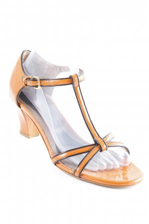 Marni Sandalo con cinturino nero-arancione scuro elegante