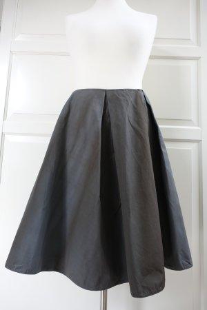 MARNI Rock, aus fester Baumwolle in dunkelgrau und dunkelbraun, Tellerrock, ital. 44 oder  EUR 40