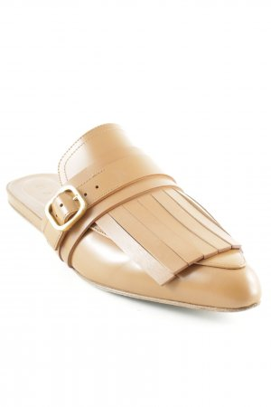 Marni Sabots cognac-coloured classic style