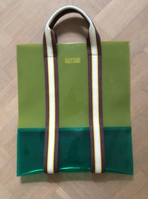 Marni at H&M Shopper grass green-forest green synthetic material