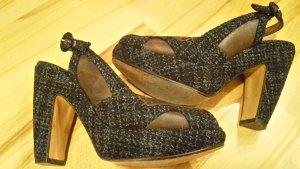 MARNI Slingpumps Textil/Leder Gr. 38