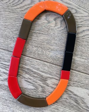 * MARNI x H& M * KETTE Kunststoff rot schwarz orange braun