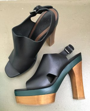 Marni at H&M Clog Sandals multicolored leather