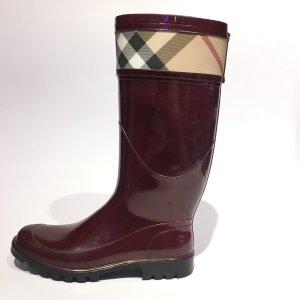 Maroon  Burberry Rain & Snow Boot