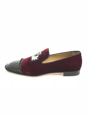 Christian Louboutin Loafer rosso scuro