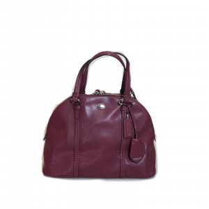 Maroon  Coach Shoulder Bag