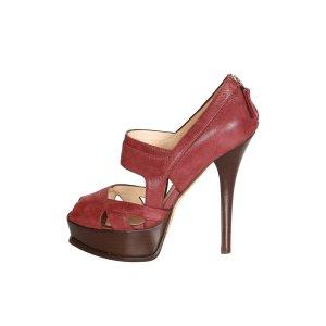 Fendi High-Heeled Sandals dark red
