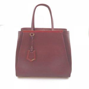 Maroon  Fendi Shoulder Bag