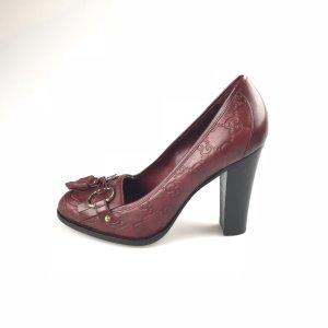 Gucci High-Heeled Sandals dark red