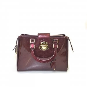 Maroon Louis Vuitton Shoulder Bag