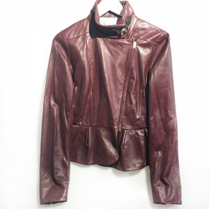 Maroon  Miu Miu Leather Jacket