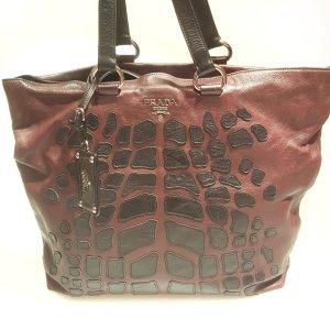 Maroon  Prada Shoulder Bag
