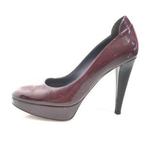Sergio Rossi High-Heeled Sandals dark red