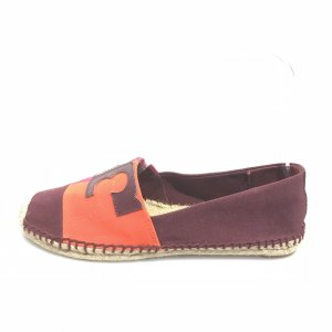 Tory Burch Espadrille sandalen donkerrood