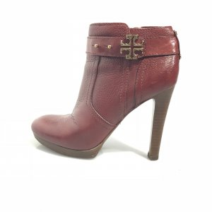 Tory Burch High-Heeled Sandals dark red