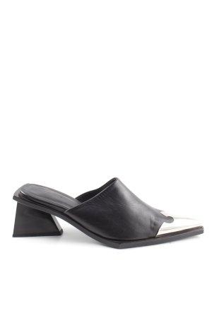 Marques Almeida Absatz Pantoletten schwarz extravaganter Stil