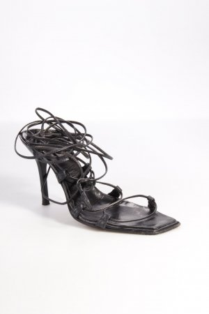 Martinez Valero Sandals With Ribbon Tie