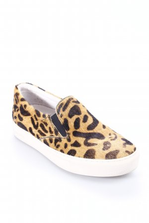 Maruti Schlüpfsneaker beige-schwarz Leomuster Street-Fashion-Look