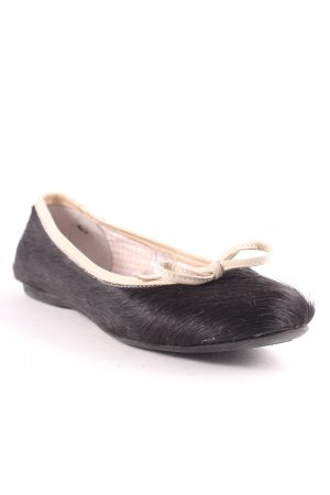 Mary Jane Ballerinas black-oatmeal simple style