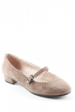 Mary Janes light brown Metal elements