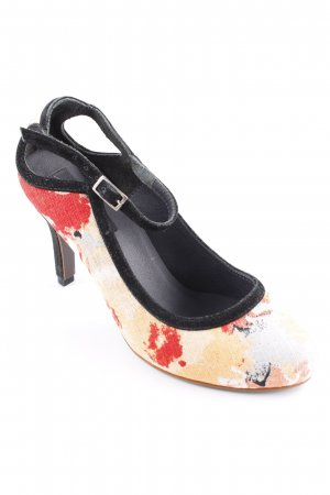 Mary Jane Pumps floral pattern vintage look