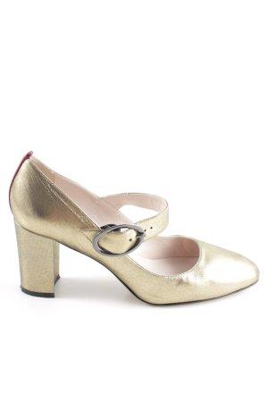 Mary Jane Pumps gold-colored-bordeaux elegant