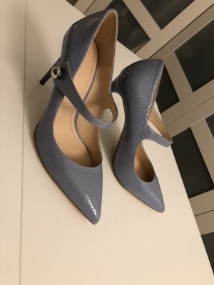 Zara Woman Tacones Mary Jane azul celeste