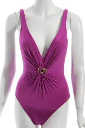 Maryan Mehlhorn Badeanzug violett Beach-Look