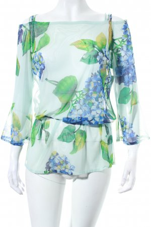 Maryan Mehlhorn Transparenz-Bluse Blumenmuster Beach-Look