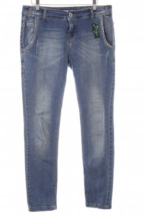 Maryley Jeans a 7/8 blu stile casual