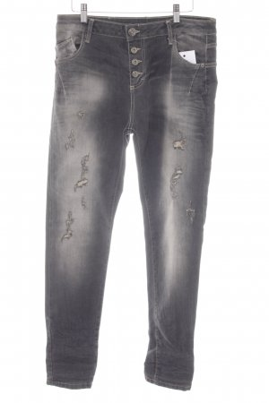 Maryley Boyfriend Jeans grey acid wash