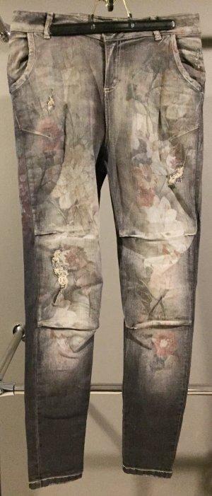Maryley Pantalón de cinco bolsillos multicolor