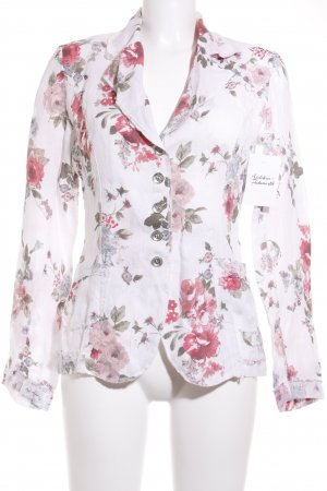 Maryley Long-Blazer florales Muster Casual-Look