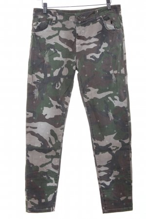 Maryley Strapped Trousers camouflage pattern casual look