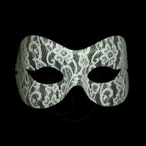 maske weiß weiss fasching spitze karneval mailand